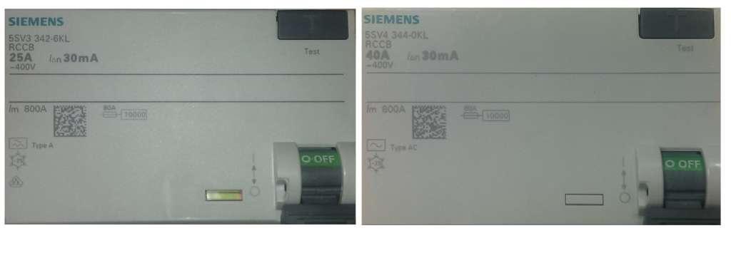 Siemens oznaczenia typ AC i typ A