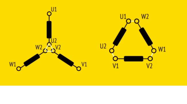Ikona połączenie gwiazda trójkąt