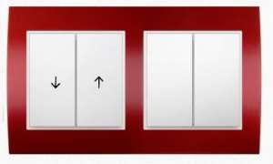 Klawiszowy łącznik roletowy i łącznik świecznikowy seria Berker B.3
