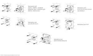 Przykładowe wyprowadzenia przewodów pod wentylatory serii