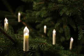 Oświetlenie choinkowe świeczki białe