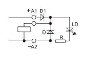 Zielona dioda LED + dioda gaszeniowa