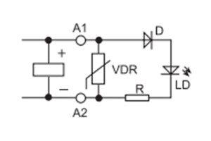 Zielona dioda LED + warystor