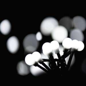 Kulki białe LED komplet choinkowy
