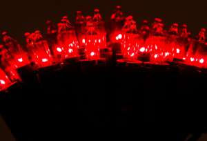 Tradycyjny komplet choinkowy czerwony