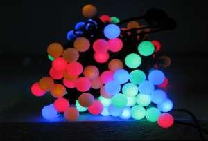 Oświetlenie choinkowe multikolor kulki
