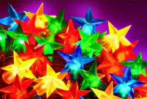 Gwiazdy multikolor oświetlenie choinkowe