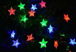 Gwiazdki LED oświetlenie świąteczne