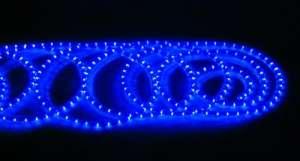 LED wąż świetlny niebieski