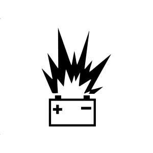 Niewłaściwa obsługa akumulatora może doprowadzić do wybuchu