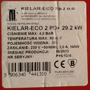 Kielar ECO tabliczka znamionowa kotła CO