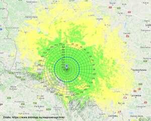 Interaktywna mapa zasięgu DVBT