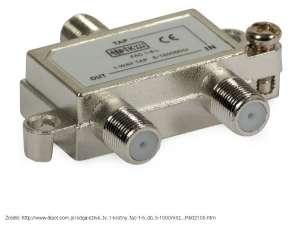 Odgałęźnik TV 1-krotny FAC-1-6 dB (5-1000MHz)