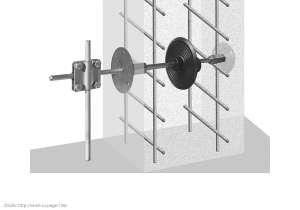 Przykład zamontowania uszczelnienia na drut w fundamencie
