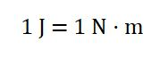 1J=1N*m