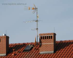 Brak odstępu izolacyjnego, anteny znajdują się poza strefą ochronną