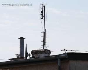 Komin oraz anteny poza strefą ochrony instalacji odgromowej