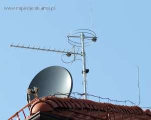 Maszt antenowy poza strefą ochronną LPS