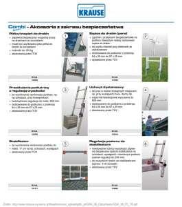 Akcesoria z zakresu bezpieczeństwa do drabin aluminiowych