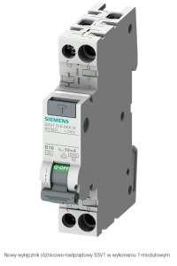 Wyłącznik różnicowo-nadprądowy 2P 16A B 0,03A typ A 5SV1316-6KK16 Siemens