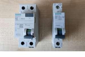 Siemens wyłącznik różnicowoprądowy 5SV4 i wyłącznik nadprądowy 5SL6116