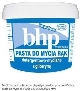 Do usuwania żelu hydrofobowego z dłoni, bardzo dobra jest Pasta BHP