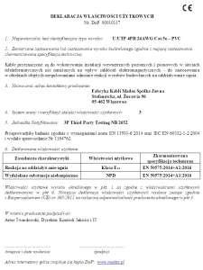 Deklaracja Właściwości Użytkowych DoP U/UTP produkcji Madex
