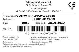 F/UTPw jak powinna wyglądać etykieta produktu?