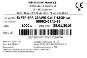 Co powinna zawierać etykieta kabli i przewodów
