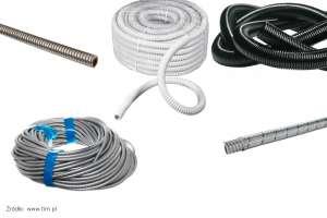 Giętkie rury i peszle z tworzywa lub stali do prowadzenia instalacji elektrycznej