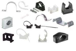 Uchwyt do mocowania kabli i przewodów w instalacji elektrycznej