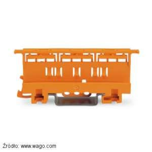 Adapter 221-500 do montażu szybkozłączek serii 221 na płycie lub szynie TS35