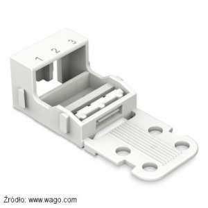 Do montażu szybkozłączek Wago 221-413 można użyć adaptera 221-503