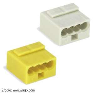 Szybkozłączka Wago 243-304 jasnoszara i 243-504 żółta