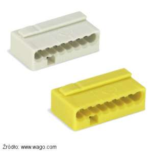 Szybkozłączka Wago jasnoszara 243-308 i żółta 243-508