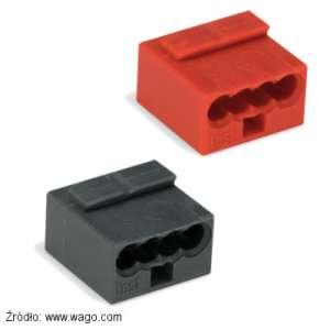 Szybkozłączka Wago nr. 243-804 czerwona i 243-204 szara