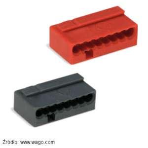 Szybkozłączka czerwona 243-808 i szara 243-208