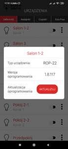 Informacja o wersji i możliwości aktualizacji odbiornika Exta Life Zamel