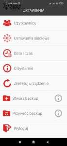 Szczegóły sekcji ustawienia w aplikacji Exta Life