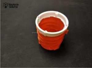 Pierścieni dystansowych używa się do wyrównania krawędzi puszki z powierzchnią tynku.