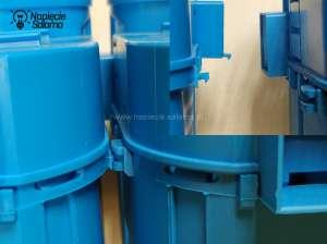 Dodatkowy zatrzask w puszkach kieszeniowych, usztywnia konstrukcje tylko w jednej płaszczyźnie.