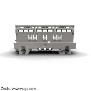 Wago adapter do montażu szybkozłączek serii 221 EX do 6 mm2 na płycie lub szynie TS35