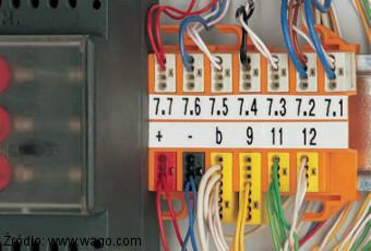 Przykład montażowy szybkozłączek Wago serii 243 za pomocą adapterów 243-112 i 243-113