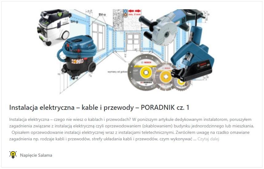 Instalacja elektryczna – kable i przewody – PORADNIK cz. 1
