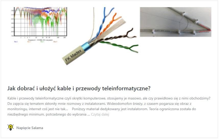 Jak dobrać i ułożyć kable i przewody teleinformatyczne?