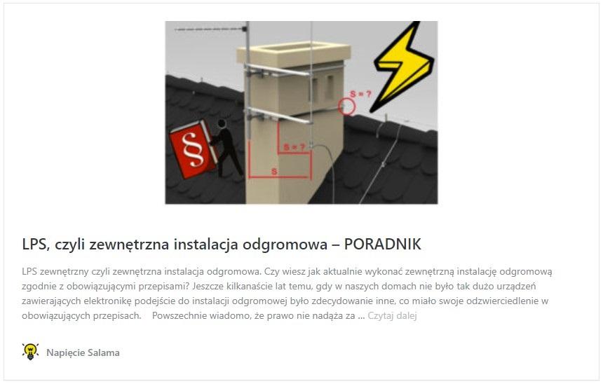 Instalacja odgromowa - poradnik dla instalatora