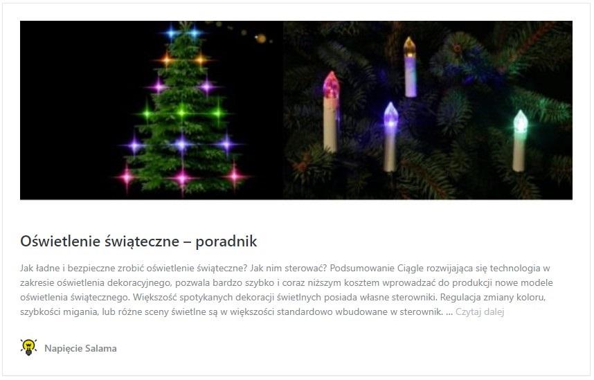 Jak ładne i bezpieczne zrobić oświetlenie świąteczne? Jak nim sterować?