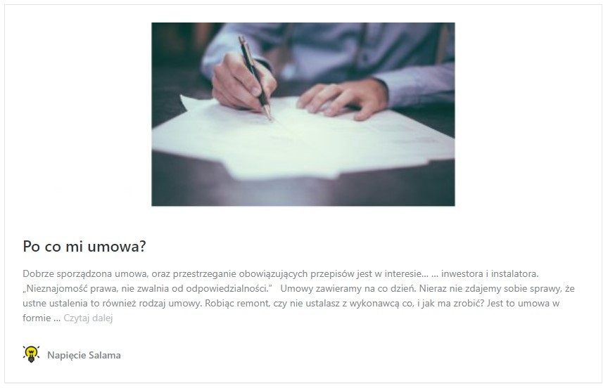 Artykuł wyjaśnia jakie korzyści daje podpisanie umowy w systemach Inteligentnego domu