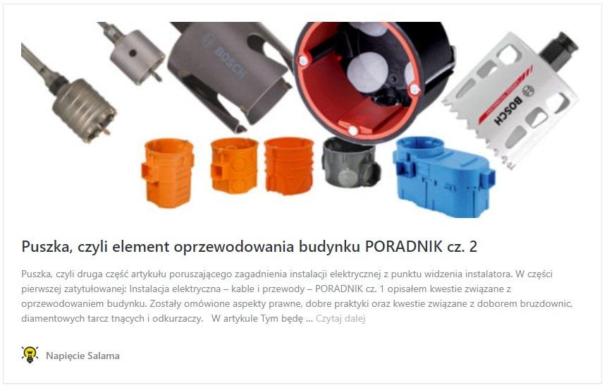 Kable i przewody, puszka, czyli element oprzewodowania budynku PORADNIK cz. 2