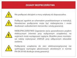 Instrukcja obsługi Blebox - zasady bezpieczeństwa